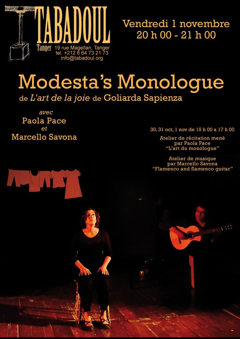 Modesta's Monologue